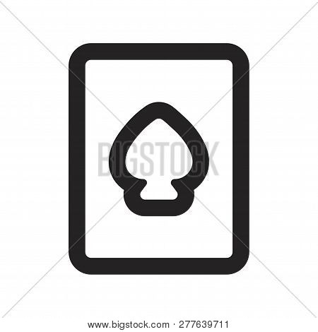 Playing Card Vector Icon On White Background. Playing Card Icon In Modern Design Style. Playing Card
