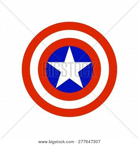 Shield With A Star, Superhero Shield, Shield Captain America, American Captain Logo, Comics Shield,