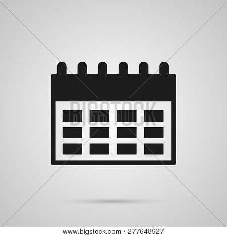 Isolated Almanac Icon Symbol On Clean Background. Vector Agenda Element In Trendy Style.