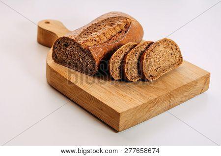 Gluten Free Homemade Bread. Healthy Food. Gluten-free Whole Grain Rye Bread Sliced.