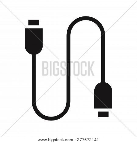 Usb Cable Icon Isolated On White Background. Usb Cable Icon In Trendy Design Style. Usb Cable Vector