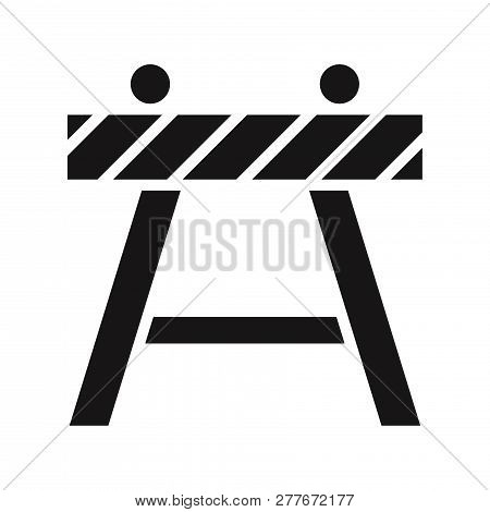 Barricade Icon Isolated On White Background. Barricade Icon In Trendy Design Style. Barricade Vector