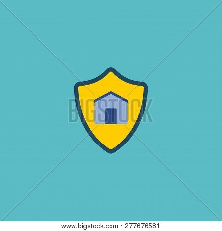 Protect House Icon Flat Element. Vector Illustration Of Protect House Icon Flat Isolated On Clean Ba