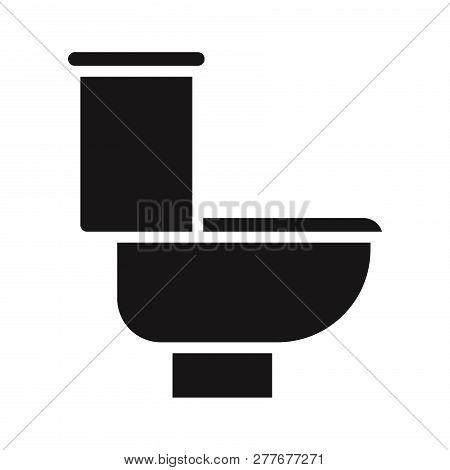 Toilet Icon Isolated On White Background. Toilet Icon In Trendy Design Style. Toilet Vector Icon Mod