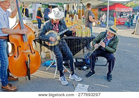 Gosford, New South Wales, Australia - April 30, 2017: Gosford City Farmers Markets, Featuring Their