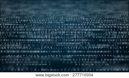 Abstract Technology Binary Code.
