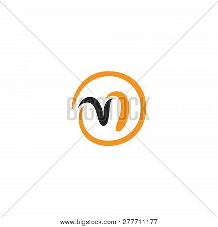 Abstract Round Letter M Technology Symbol. Unique Round Letter M On The White Background. Vector Ill