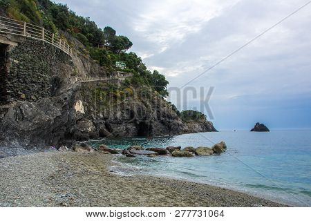 Monterosso, Cinque Terre, Italy - May 28, 2018: Beautiful Small Town Of Monterosso In The Cinque Ter
