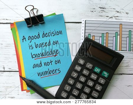 Quotes on decision making and knowledge