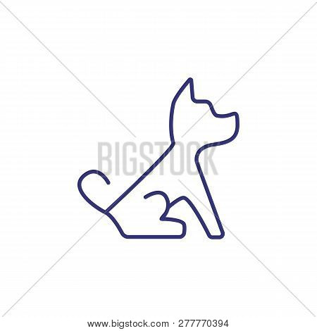 Dog Line Icon. Puppy, Domestic Dog, Pet Clinic. Veterinary Concept. Vector Illustration Can Be Used