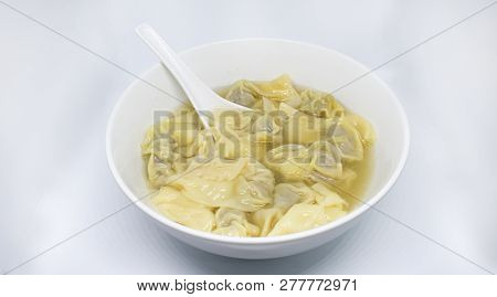 Wonton - china popular delicious food - meat balls poster