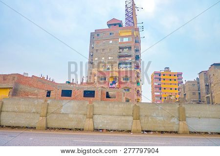 The Living Shabby High-rise Neighbor With Unattractive Unfinished Buildings In One Of Of Poor Distri