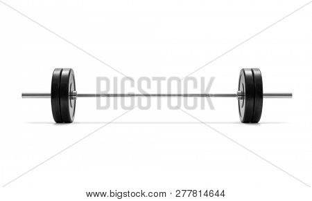 Barbell on white background, included clipping path
