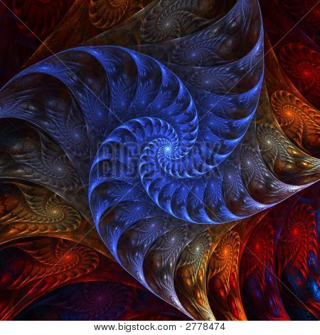 Layered Spiral Abstract