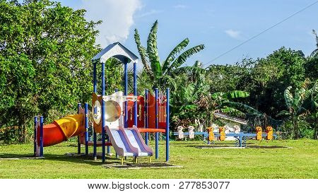Playground Equipment For Kids Playground On Yard For Any Playground Activities At Public Park With G