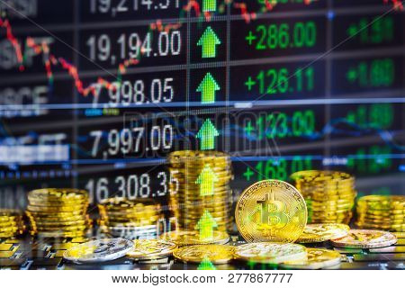 Bitcoin Business. Crypto Currency Gold Bitcoin. New Way Of Business Bitcoin Currency Is Payment In G