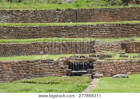 Parque Arqueológico In Tipón, Cuzon Region Of Peru