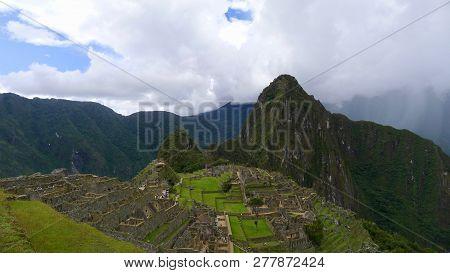The Iconic Machu Picchu In Cuzco Region Of Peru