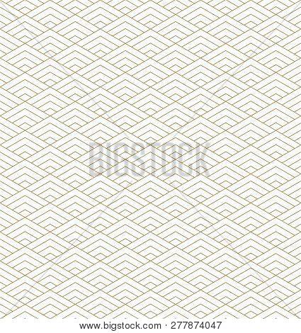 Seamless Japanese Pattern Kumiko For Shoji Screen, Great Design For Any Purposes. Japanese Pattern B