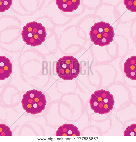 Retro Lacy Polka Dot Seamless Pattern Allover Dotty Abstract