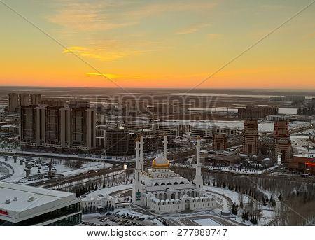Kazakhstan, Capital, Astana, Landscape, Cityscape, Night Landscape, City, Night, Drone, Quadcopter,