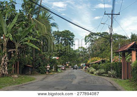 View Of A Street In Puerto Viejo De Talamanca, Costa Rica