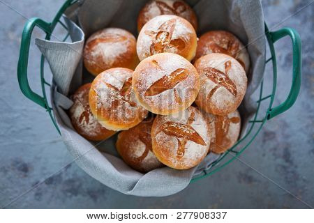 fresh homemade buns  bread rolls - food and drink