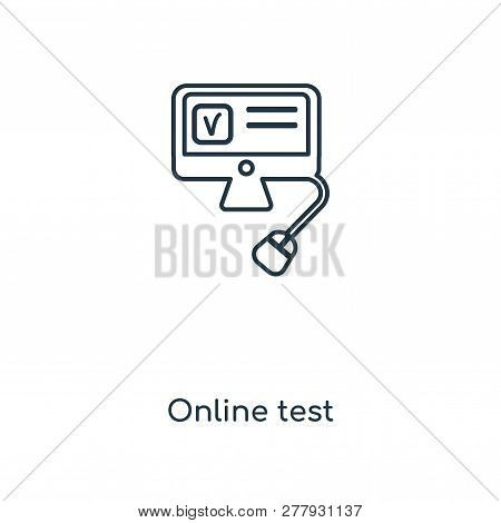 Online Test Icon In Trendy Design Style. Online Test Icon Isolated On White Background. Online Test