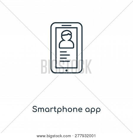 Smartphone App Icon In Trendy Design Style. Smartphone App Icon Isolated On White Background. Smartp
