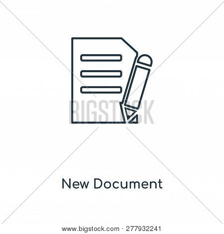 New Document Icon In Trendy Design Style. New Document Icon Isolated On White Background. New Docume