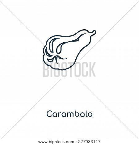Carambola Icon In Trendy Design Style. Carambola Icon Isolated On White Background. Carambola Vector