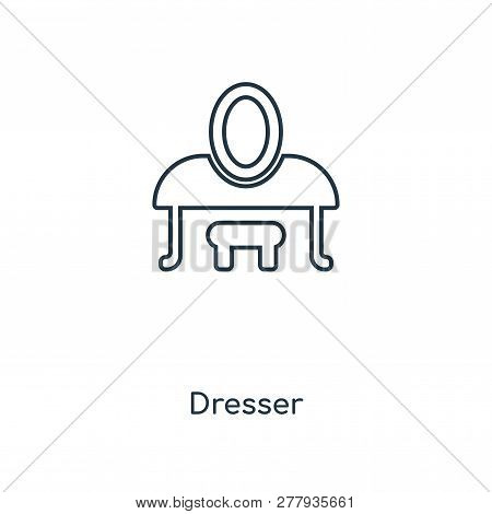 Dresser Icon In Trendy Design Style. Dresser Icon Isolated On White Background. Dresser Vector Icon