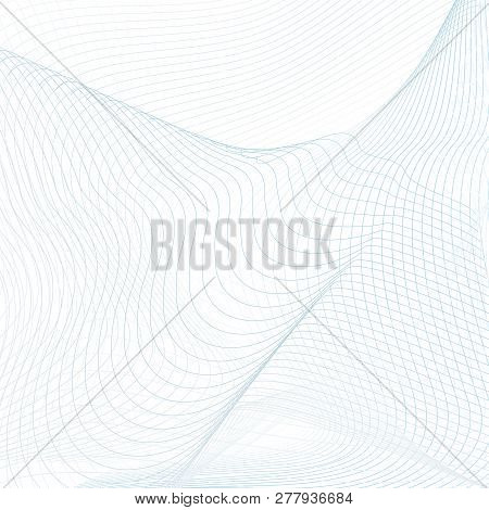 Net Background. Technology Thin Lines. Abstract Modern Grid Pattern In Light Blue And Gray Hues. Vec