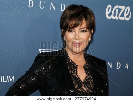 Kris Jenner at the Art Of Elysium's 12th Annual Heaven Celebration held at the Private Venue in Los Angeles, USA on January 5, 2019.