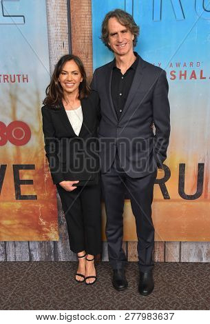 LOS ANGELES - JAN 10:  Susanna Hoffs and Jay Roach arrives to HBO's 'True Detective' Season 3 Premiere  on January 10, 2019 in Hollywood, CA