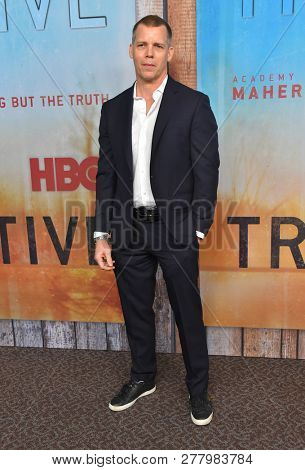 LOS ANGELES - JAN 10:  Tim Griffin arrives to HBO's 'True Detective' Season 3 Premiere  on January 10, 2019 in Hollywood, CA