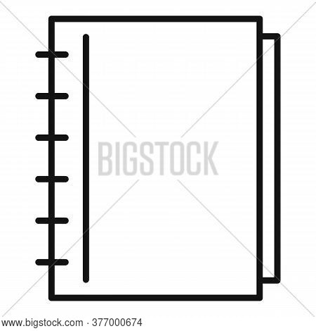 Notebook Catalog Icon. Outline Notebook Catalog Vector Icon For Web Design Isolated On White Backgro