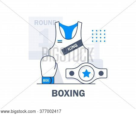 Boxing,boxing Gloves,flat Design Icon Vector Illustration,boxing Gloves