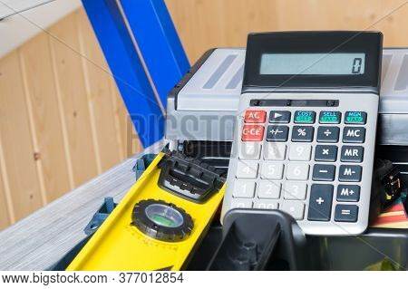 Set Of Tools And Calculator For Calculating The Cost Of Repair Work, Concept, Background