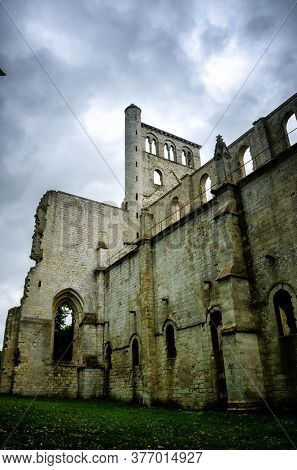 Jumieges Abbey was a Benedictine monastery situated in Normandy, France. The ruins of the Abbey impress by their scale, and by their setting, in a beautiful meander in the Seine river