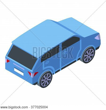 Adventure Blue Car Icon. Isometric Of Adventure Blue Car Vector Icon For Web Design Isolated On Whit