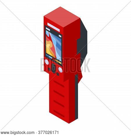 Red Thermal Imager Icon. Isometric Of Red Thermal Imager Vector Icon For Web Design Isolated On Whit