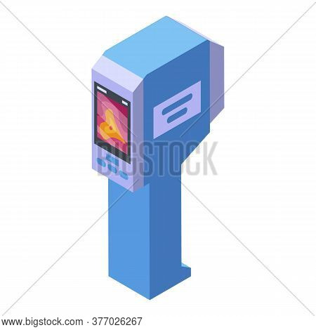 Geodetic Thermal Imager Icon. Isometric Of Geodetic Thermal Imager Vector Icon For Web Design Isolat