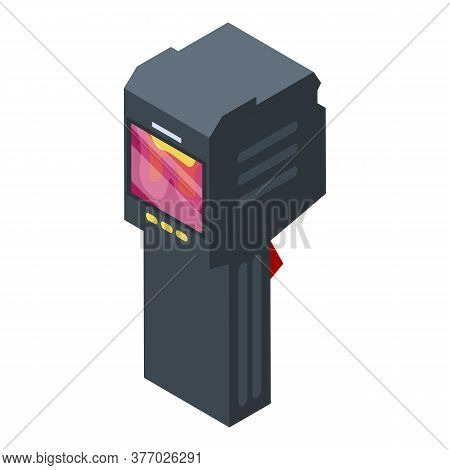 Heating Thermal Imager Icon. Isometric Of Heating Thermal Imager Vector Icon For Web Design Isolated