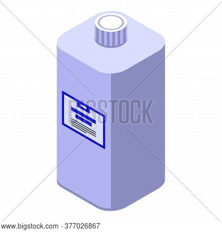 Antiseptic Bottle Icon. Isometric Of Antiseptic Bottle Vector Icon For Web Design Isolated On White