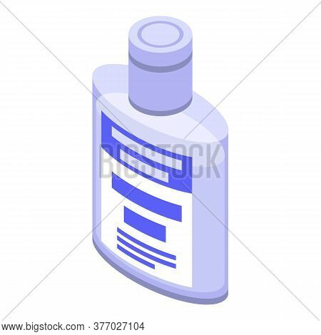 Alcohol Antiseptic Icon. Isometric Of Alcohol Antiseptic Vector Icon For Web Design Isolated On Whit