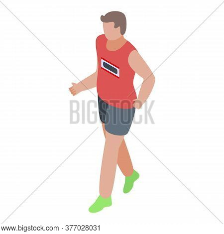 Healthy Running Icon. Isometric Of Healthy Running Vector Icon For Web Design Isolated On White Back