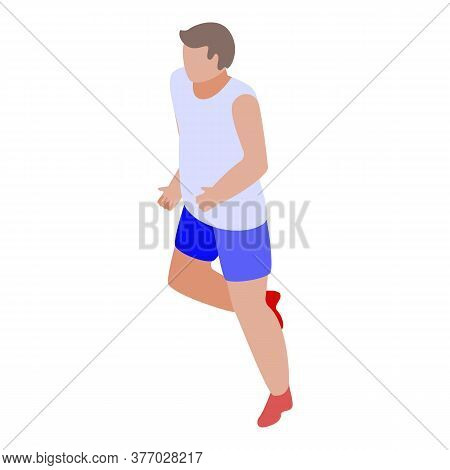 Workout Boy Running Icon. Isometric Of Workout Boy Running Vector Icon For Web Design Isolated On Wh