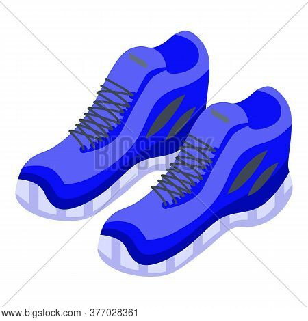 Running Sport Shoes Icon. Isometric Of Running Sport Shoes Vector Icon For Web Design Isolated On Wh