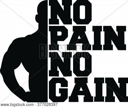 No Pain No Gain. Motivational Quotes For Gym Lovers And For A Hard-working Person. Anyone Can Relate